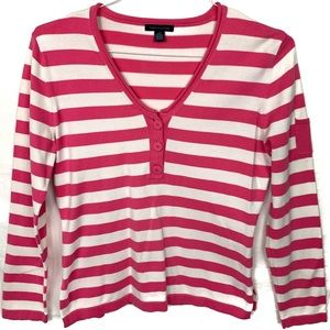 Tommy Hilfiger striped pink and white